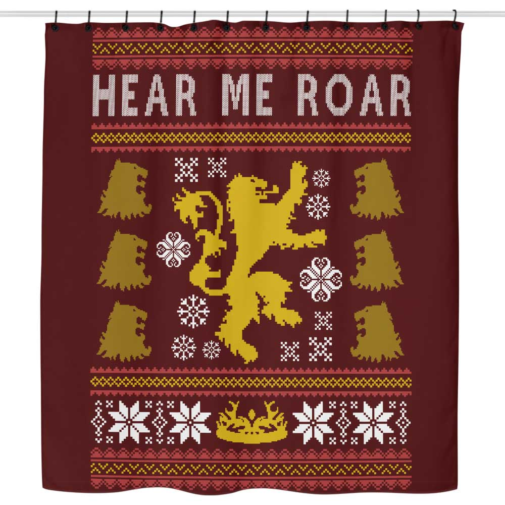 A Lion Always Wraps Their Gifts - Shower Curtain