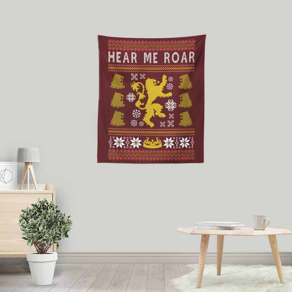 A Lion Always Wraps Their Gifts - Wall Tapestry