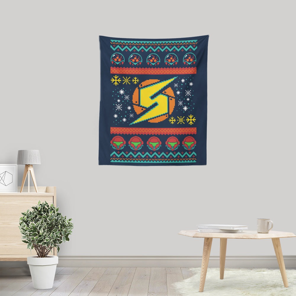 A Metroid Christmas - Wall Tapestry