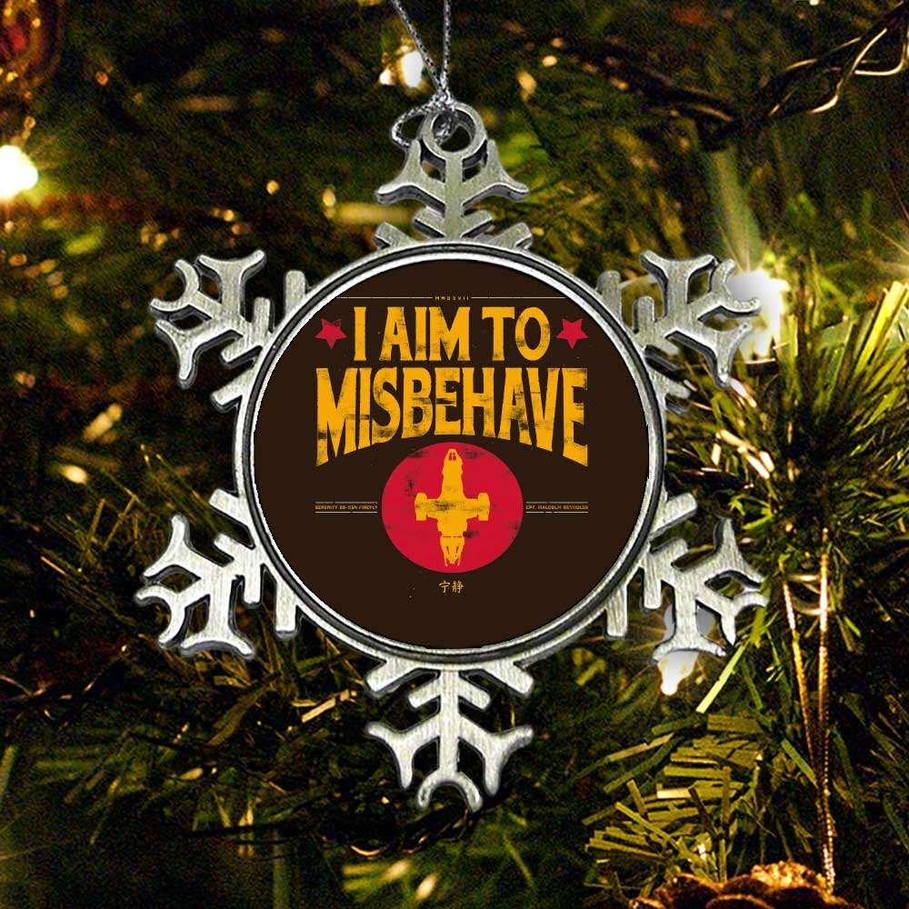 Aim to Misbehave - Ornament
