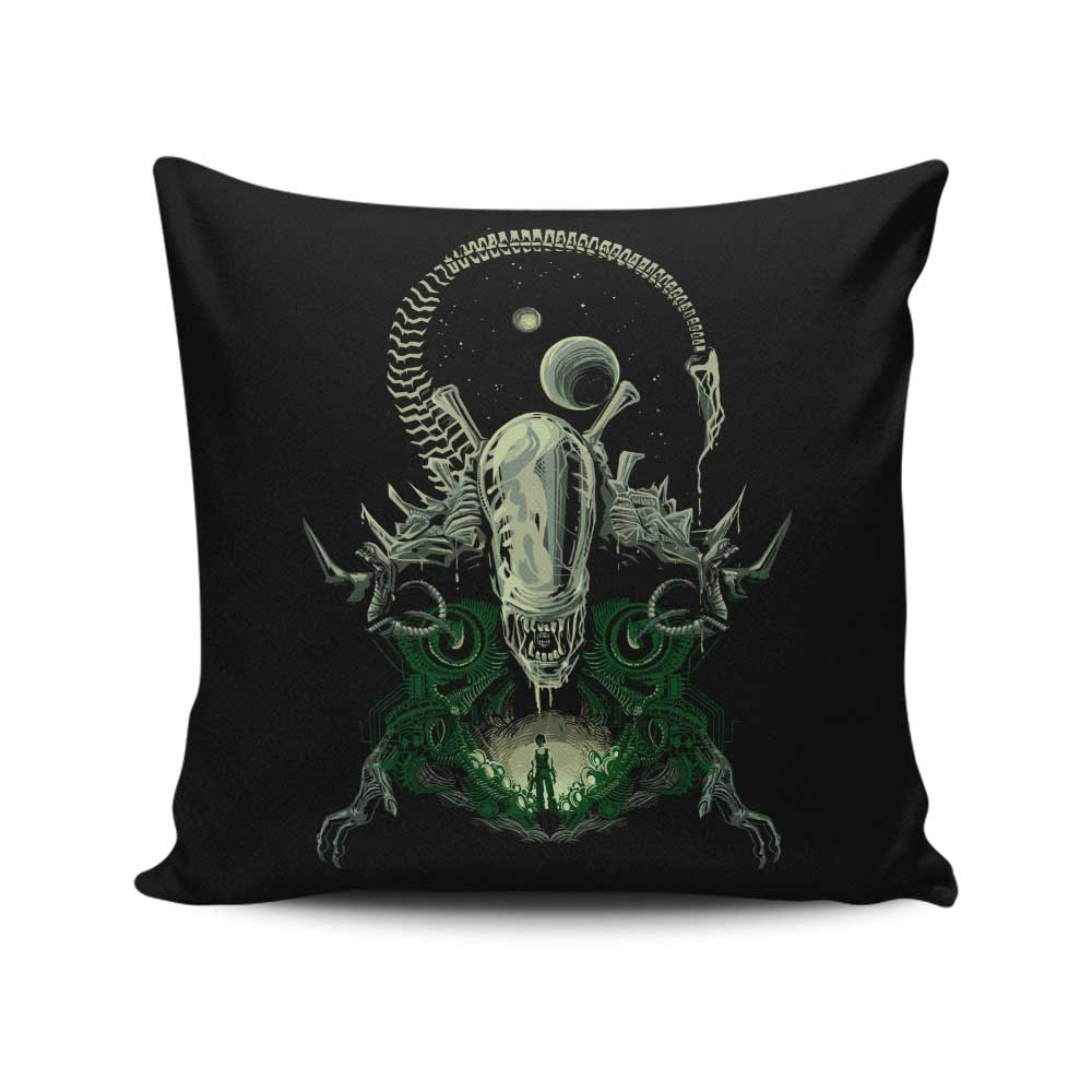 Alien Nightmare - Throw Pillow