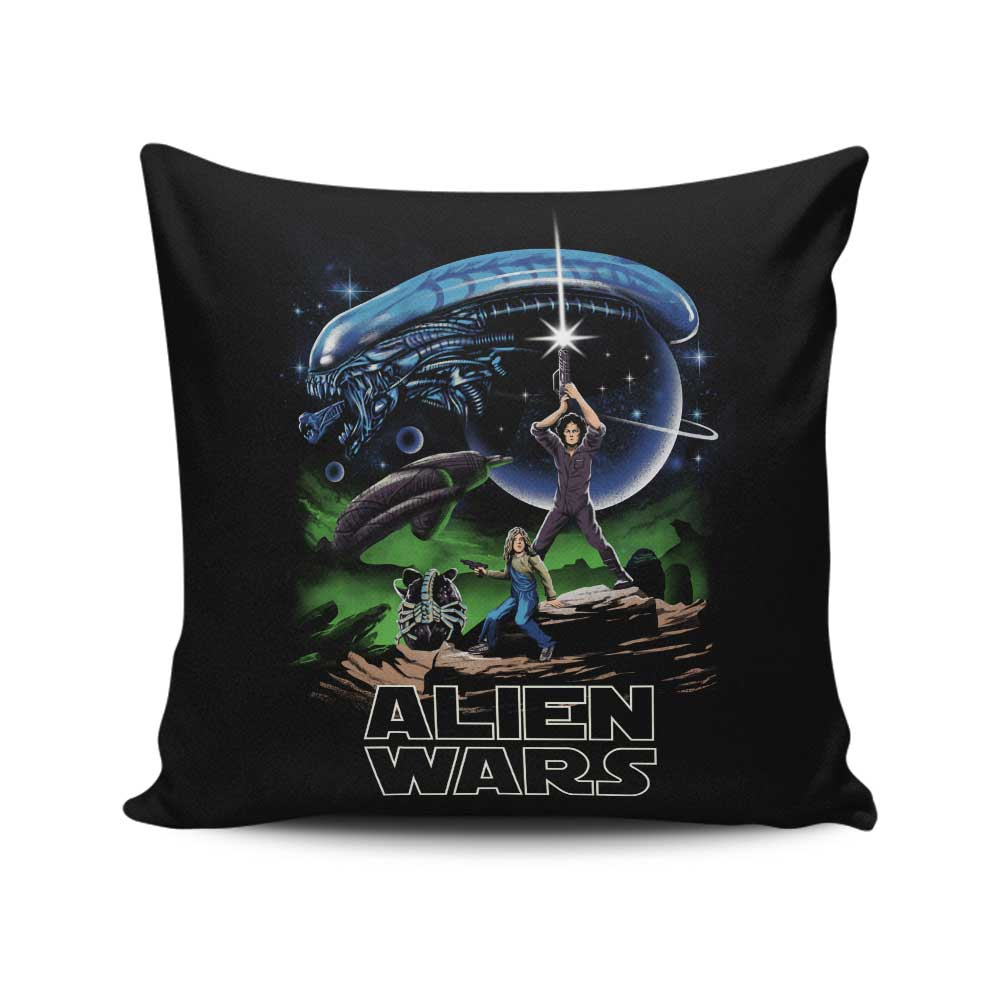 Alien Wars - Throw Pillow