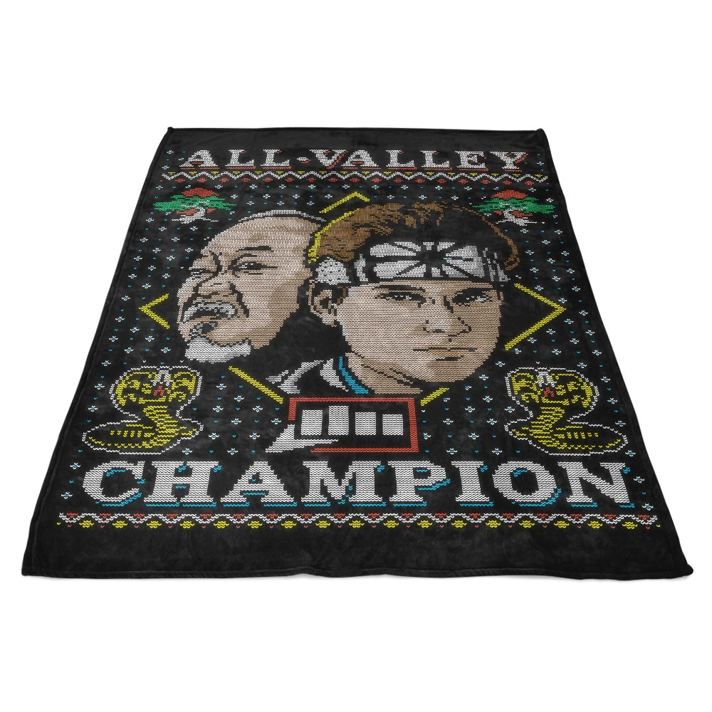 All Valley Holiday - Fleece Blanket