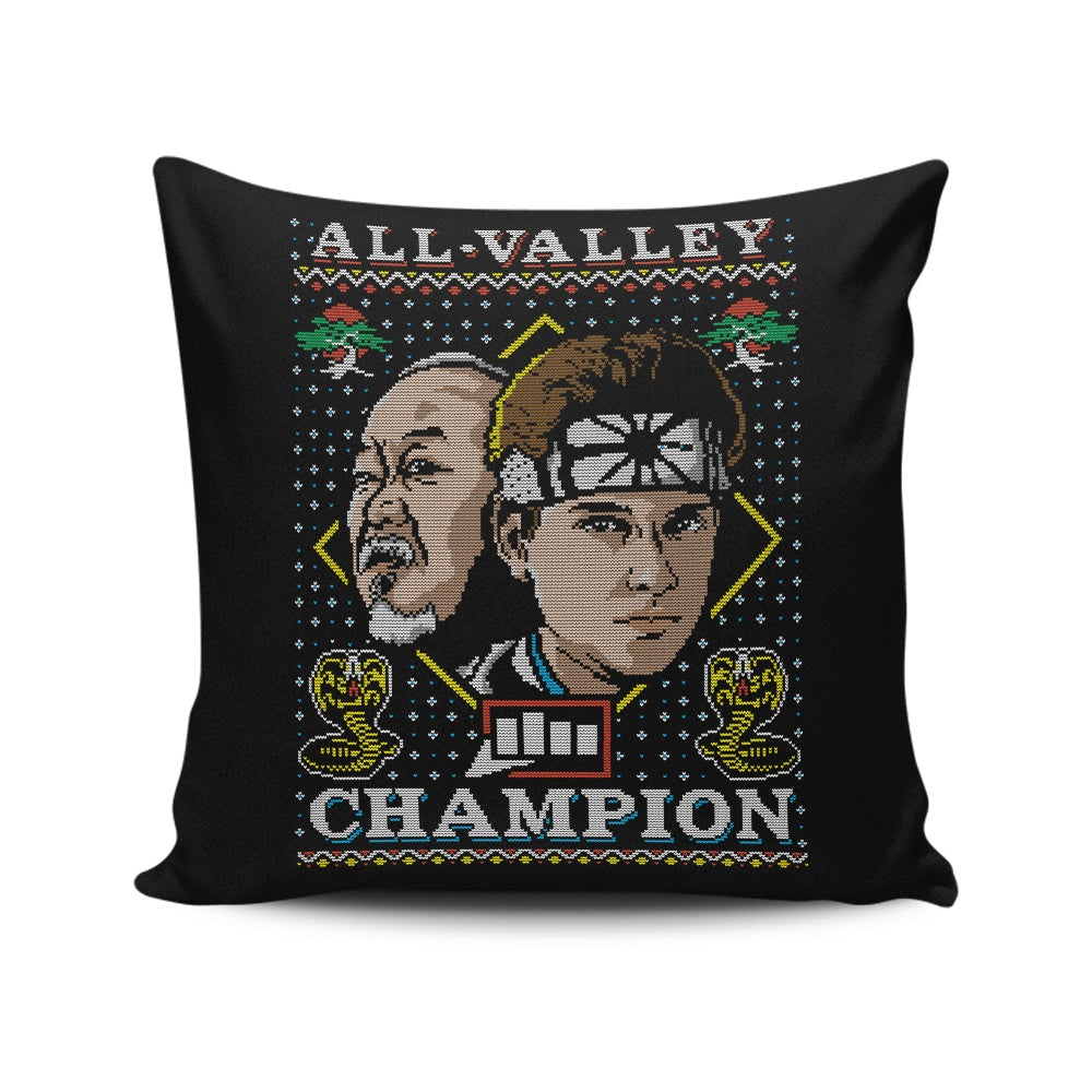 All Valley Holiday - Throw Pillow