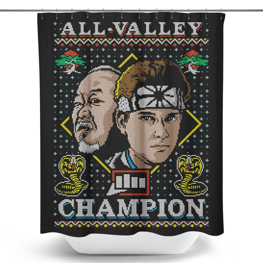 All Valley Holiday - Shower Curtain