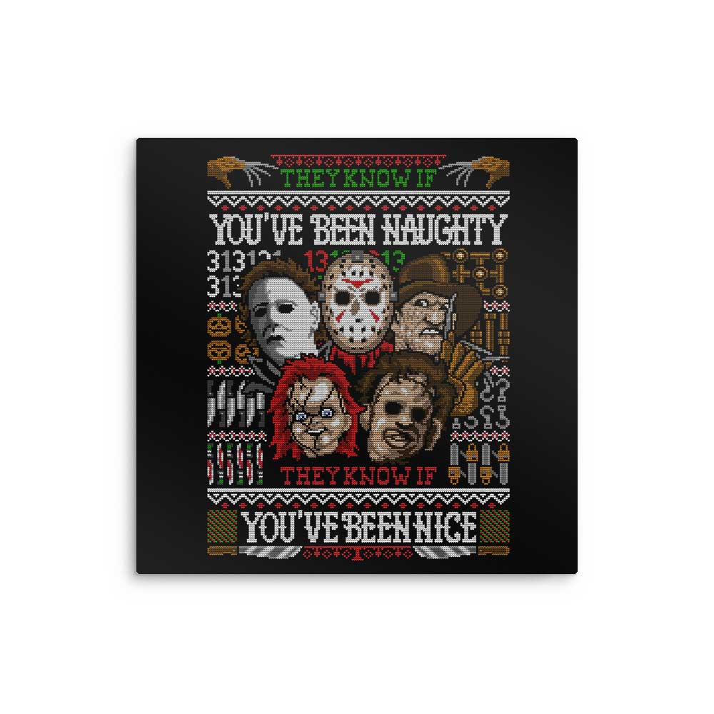 An Ugly Slasher Sweater - Metal Print