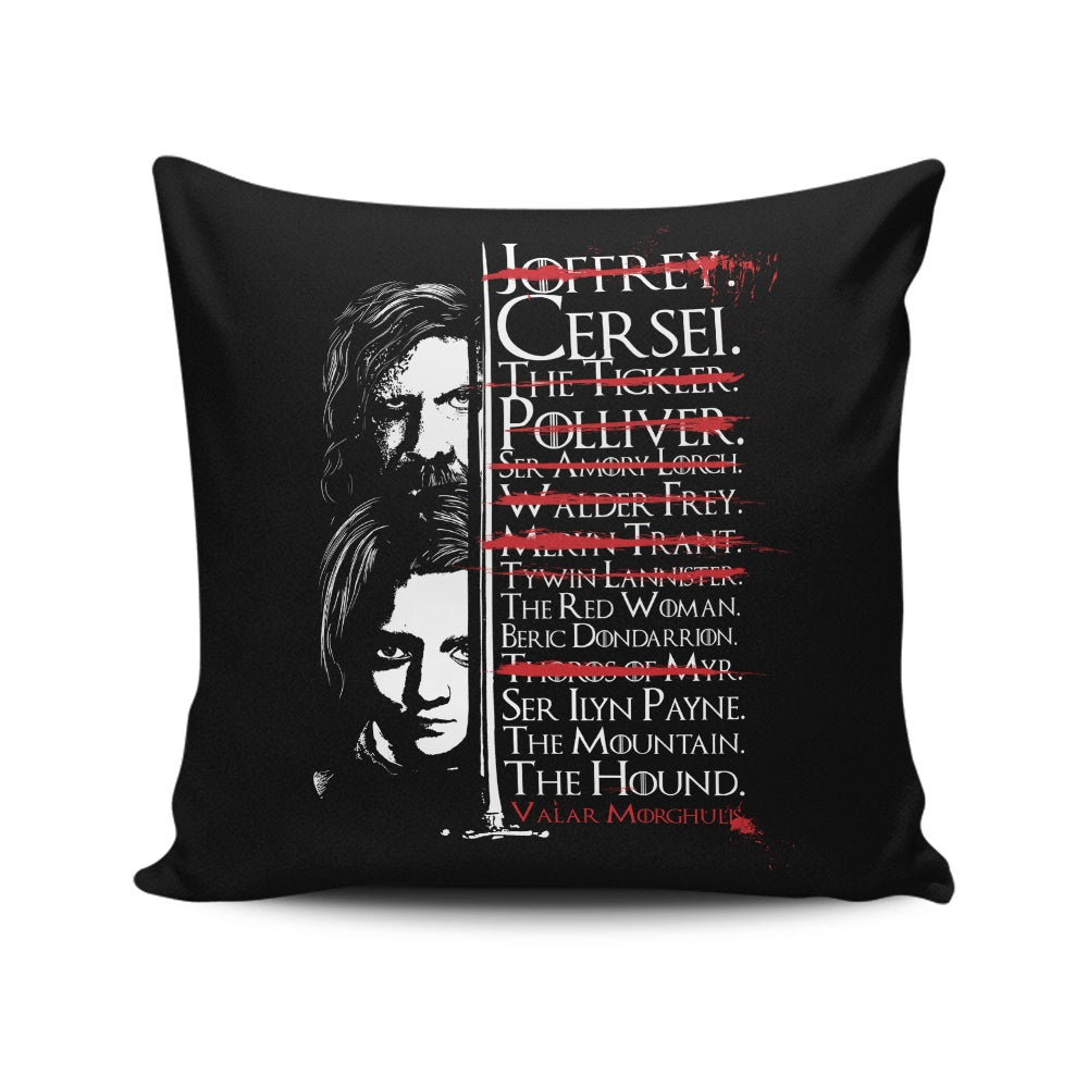 Arya's Prayer - Throw Pillow