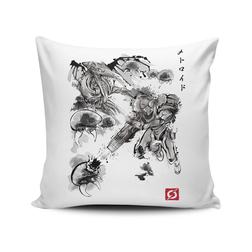 Attack of the Space Pirates - Throw Pillow