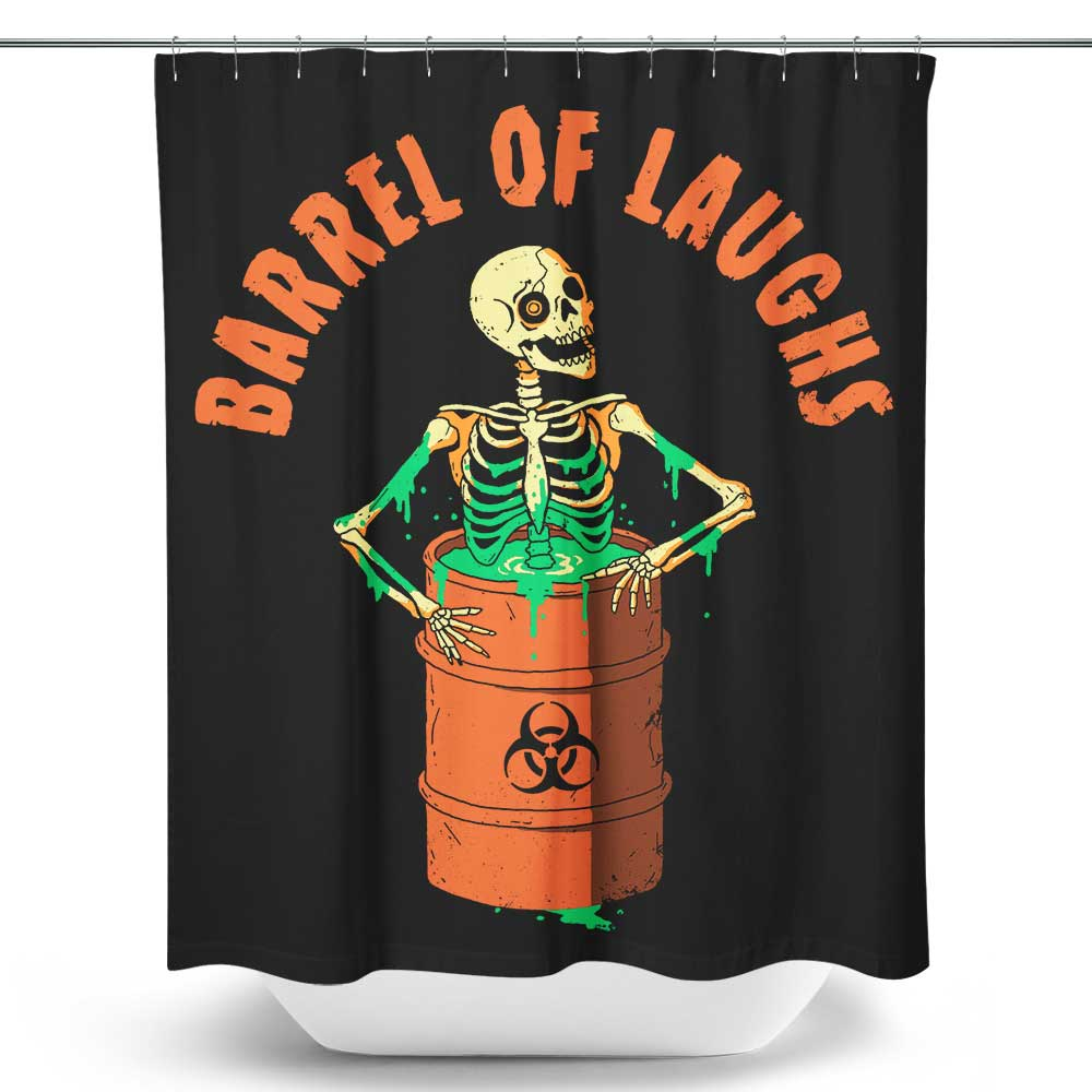 Barrel of Laughs - Shower Curtain
