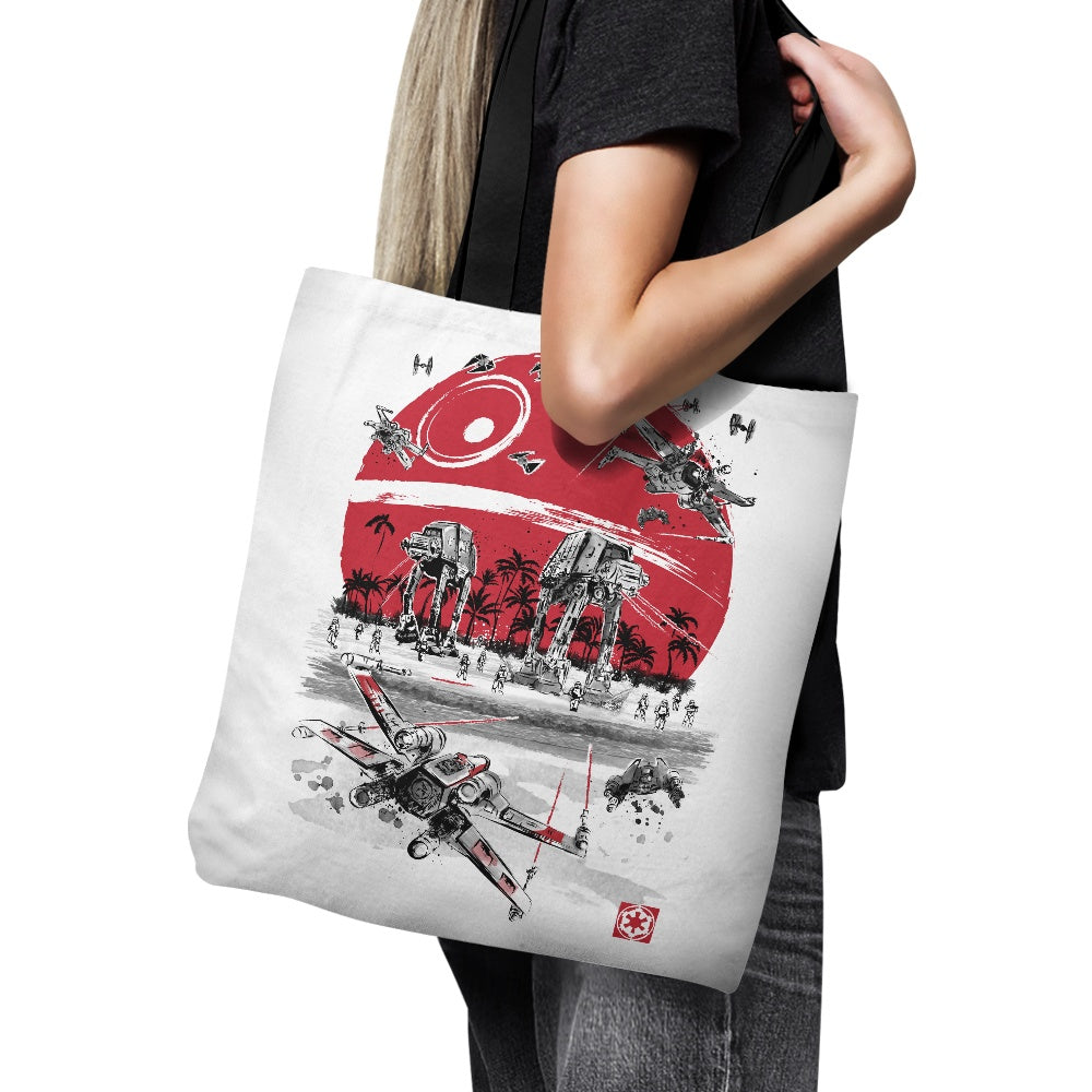 Battle on the Beach - Tote Bag