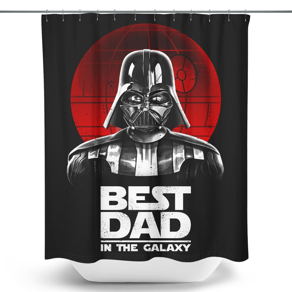 Best Dad in the Galaxy - Shower Curtain