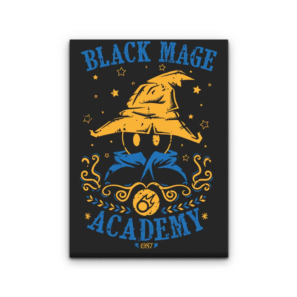 Black Mage Academy Canvas Print Once Upon A Tee