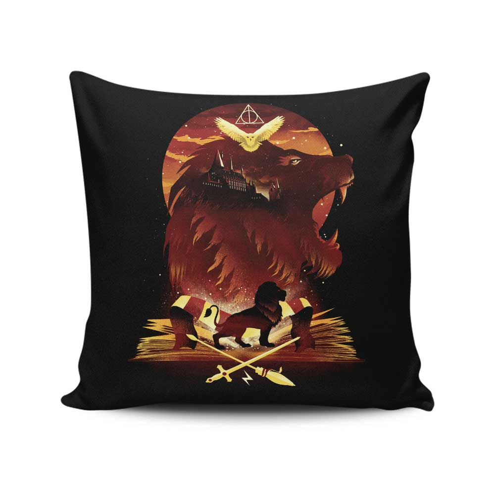 Book of Lions - Throw Pillow