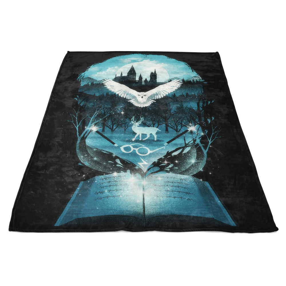 Book of Magic - Fleece Blanket