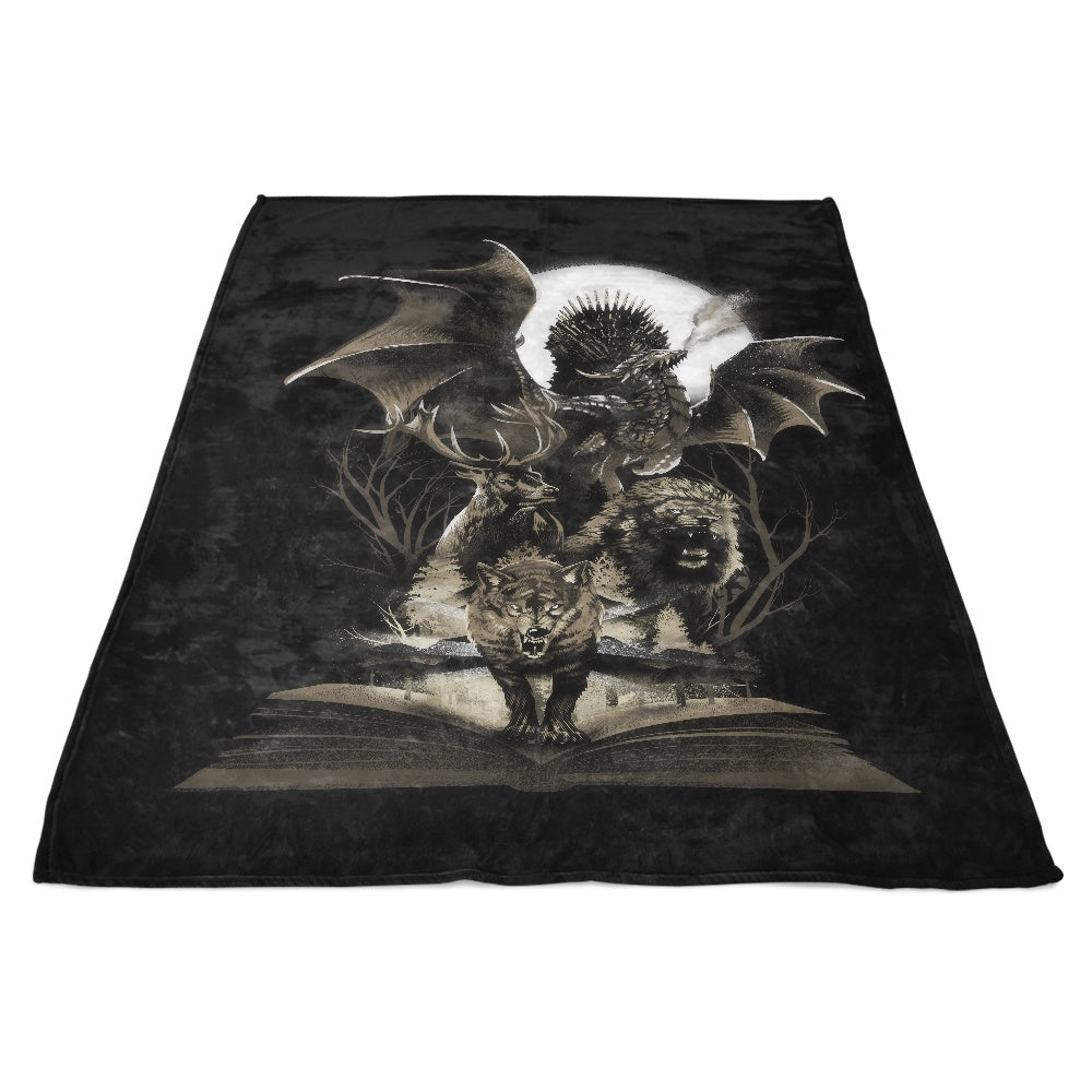 Book of Thrones - Fleece Blanket
