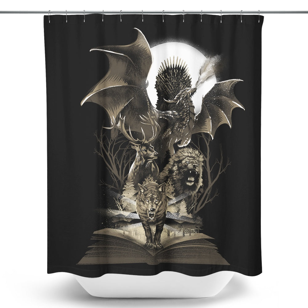 Book of Thrones - Shower Curtain
