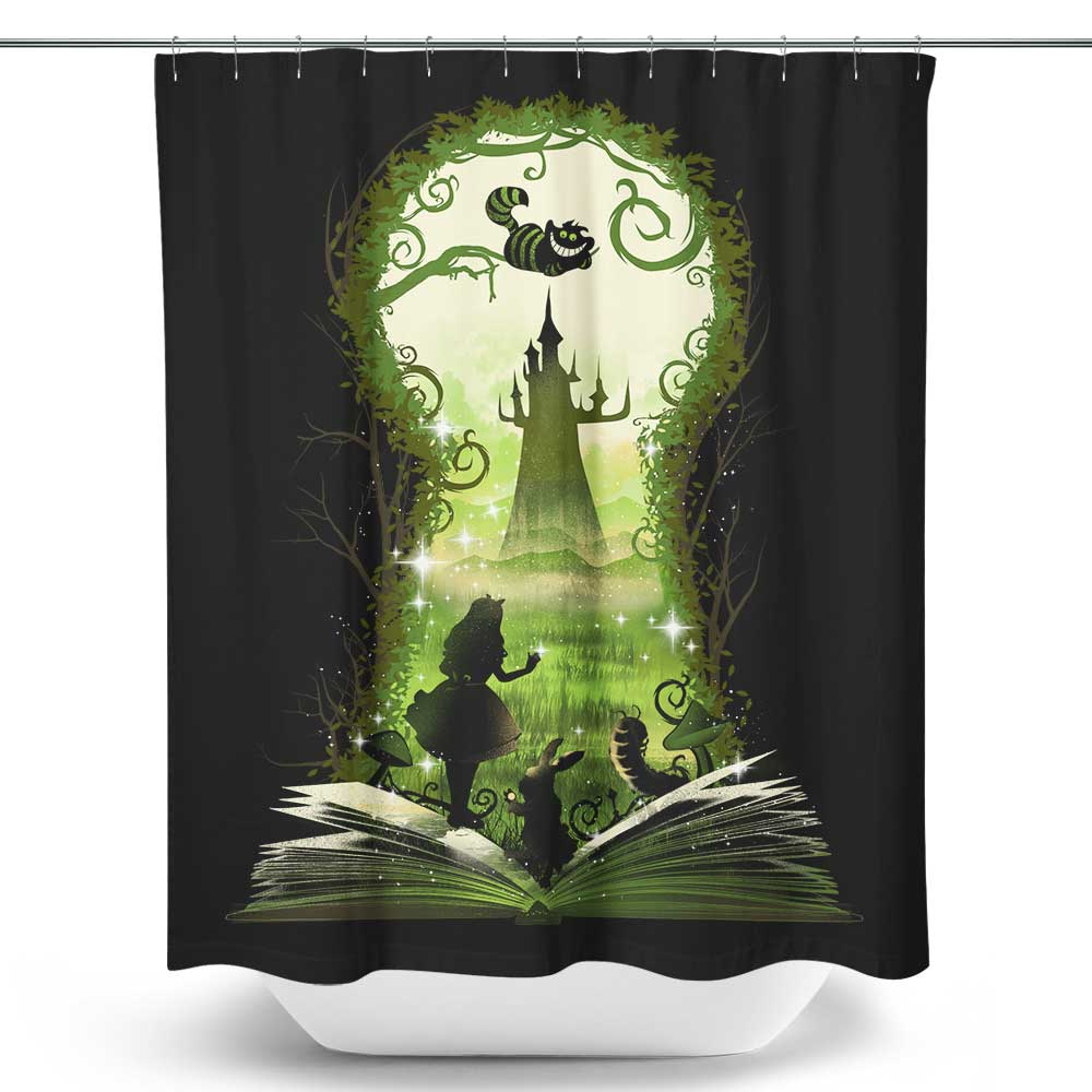 Book of Wonderland - Shower Curtain