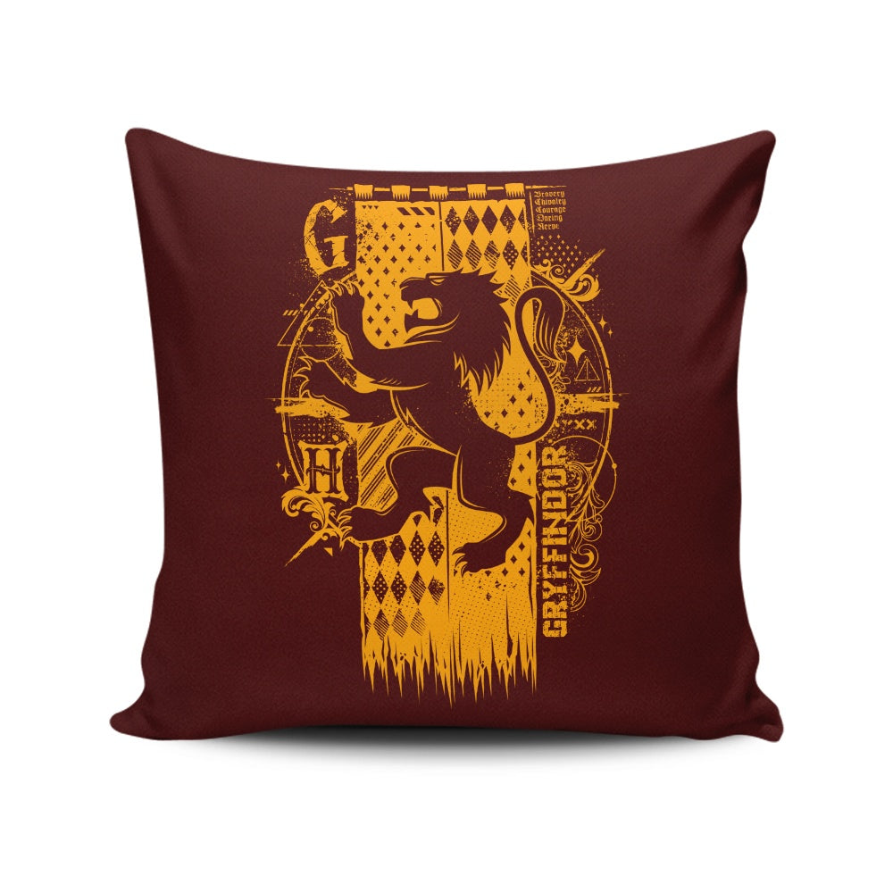 Bravery, Chivalry, and Courage - Throw Pillow