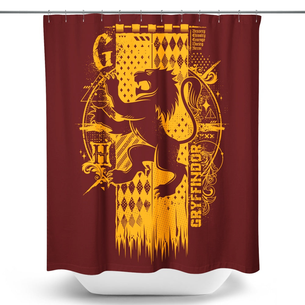 Bravery, Chivalry, and Courage - Shower Curtain