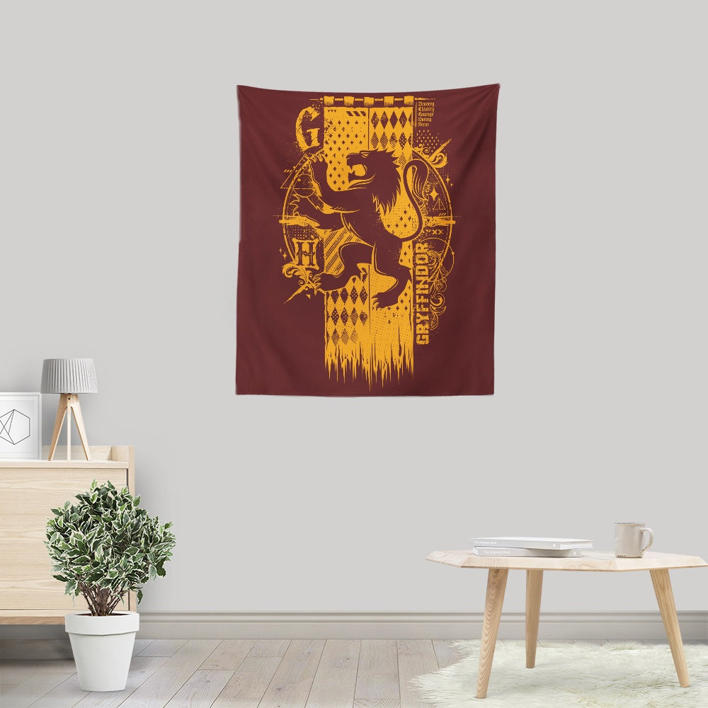 Bravery, Chivalry, and Courage - Wall Tapestry