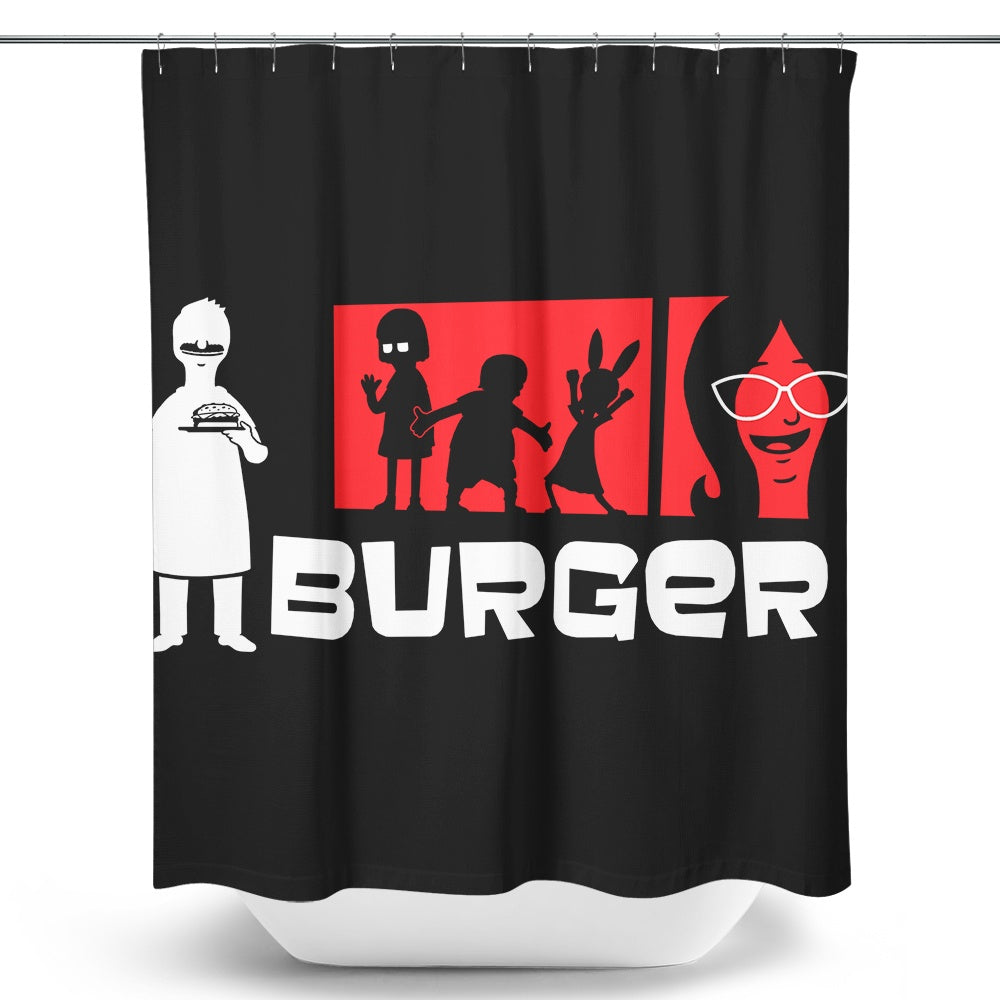 Burger - Shower Curtain