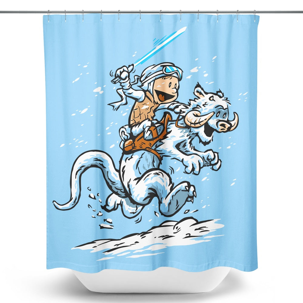 Calvin and Hoth (Alt) - Shower Curtain
