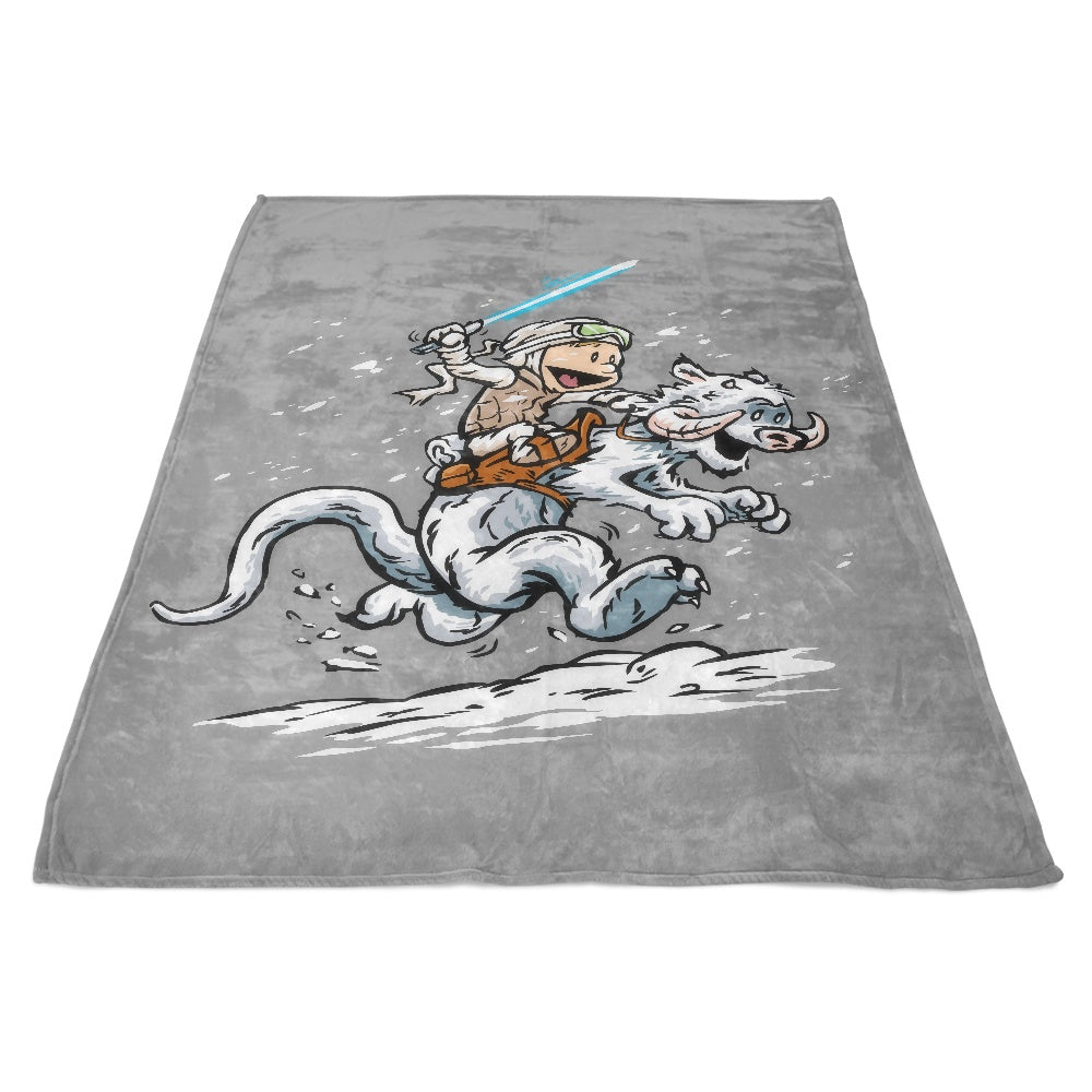 Calvin and Hoth - Fleece Blanket