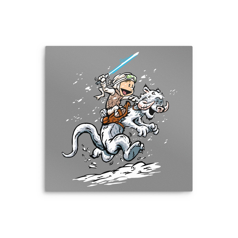 Calvin and Hoth - Metal Print