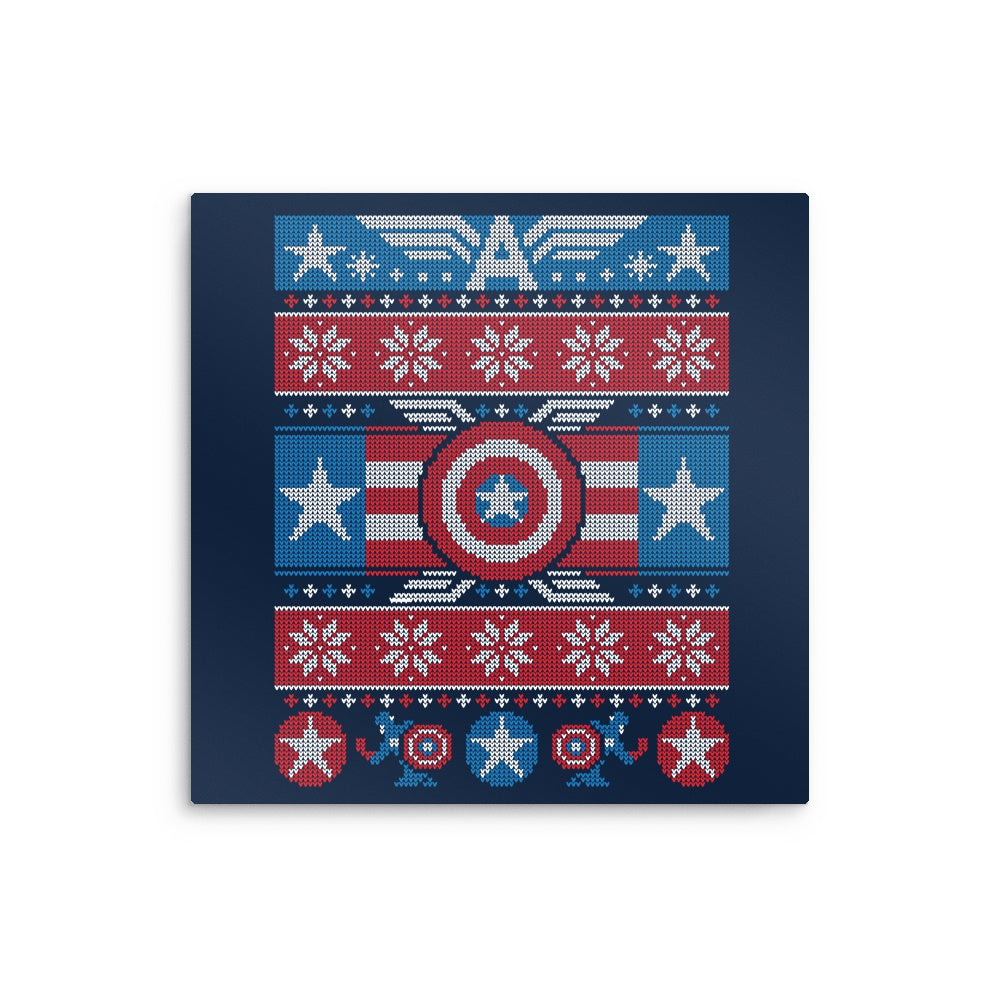 captains christmas sweater metal print captains christmas sweater metal print - Metal Christmas Sweater