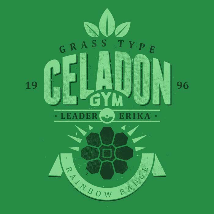 Celadon City Gym - 3/4 Sleeve Raglan T-Shirt