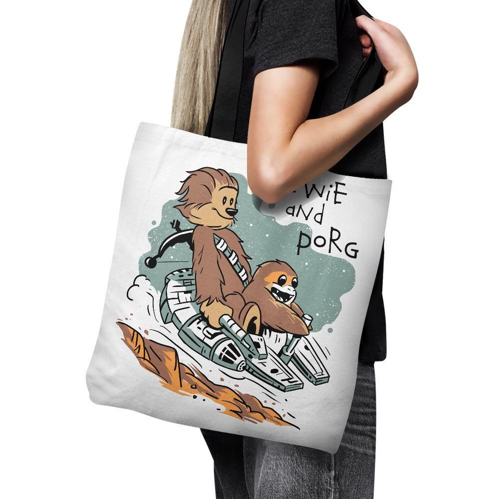 Chewie and Porg - Tote Bag