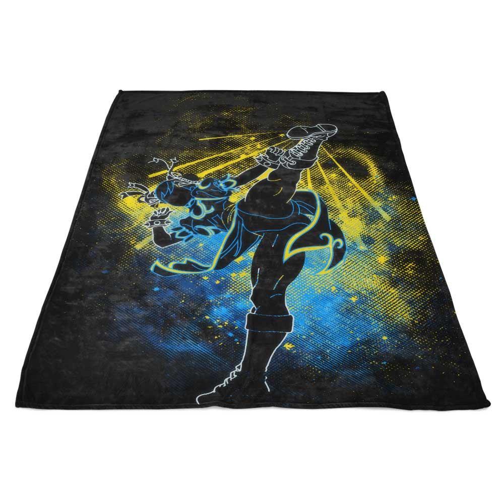 Chun Li Art - Fleece Blanket