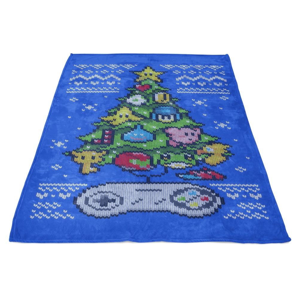 Classic Gaming Christmas - Fleece Blanket
