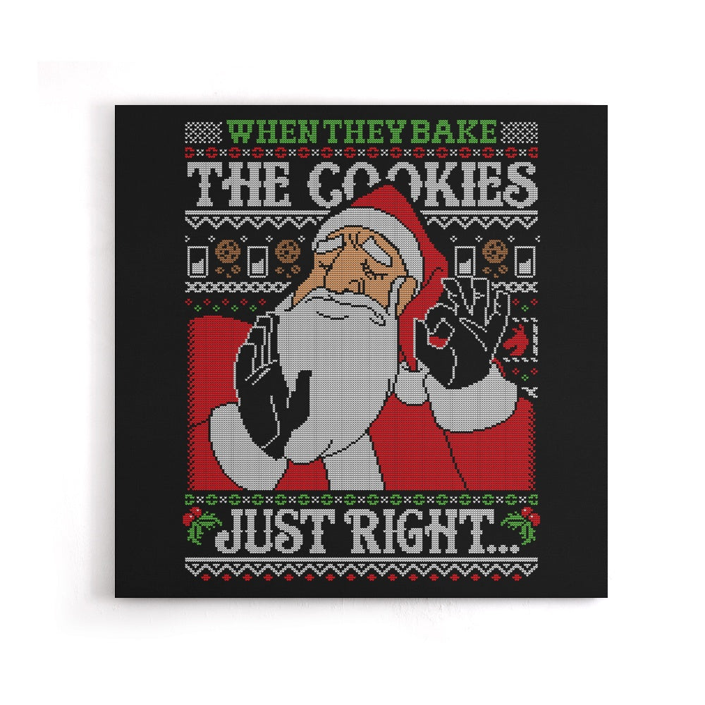 Cookies Just Right - Canvas Print