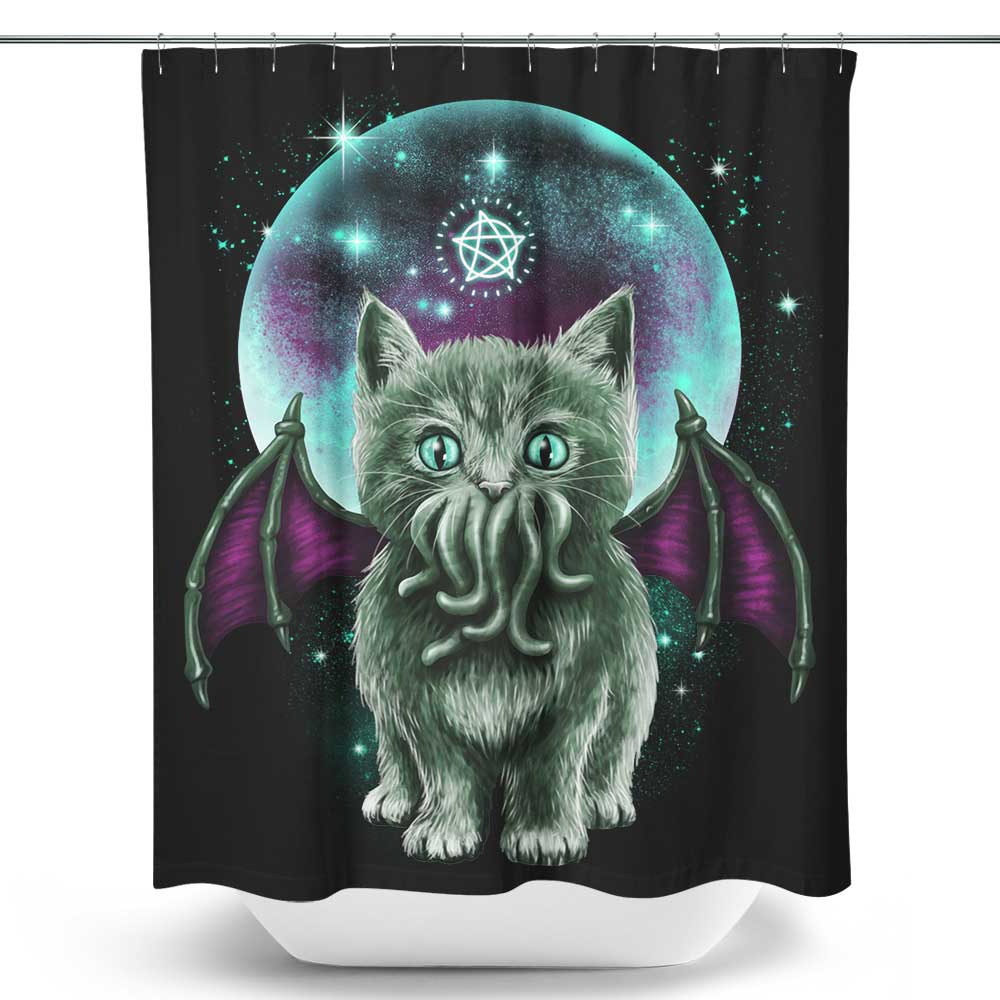 Cosmic Purrcraft - Shower Curtain