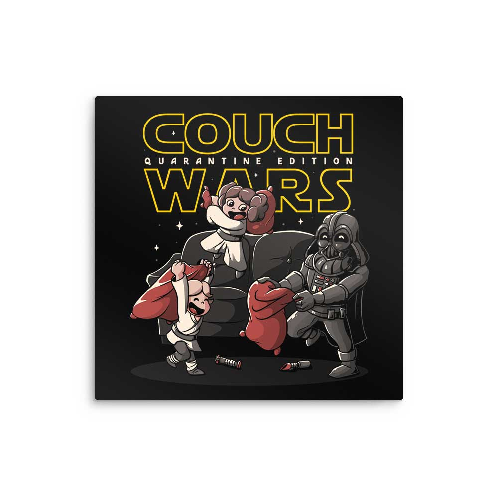 Couch Wars - Metal Print