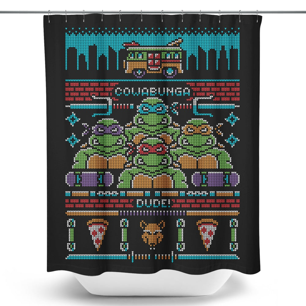 Cowabunga Dude - Shower Curtain