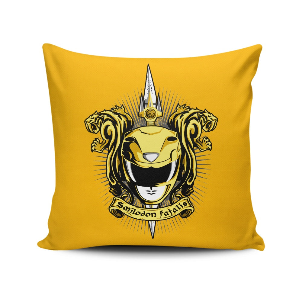Croceus Smilodon Fatalis - Throw Pillow
