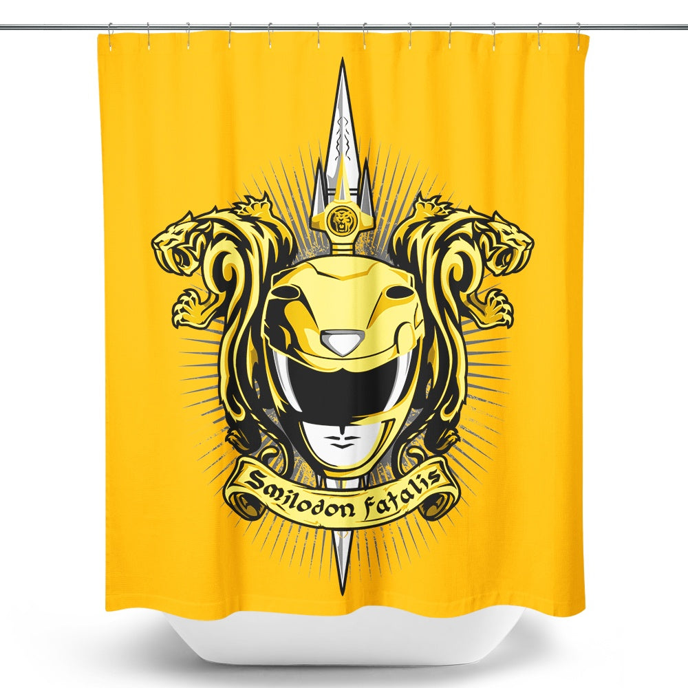 Croceus Smilodon Fatalis - Shower Curtain