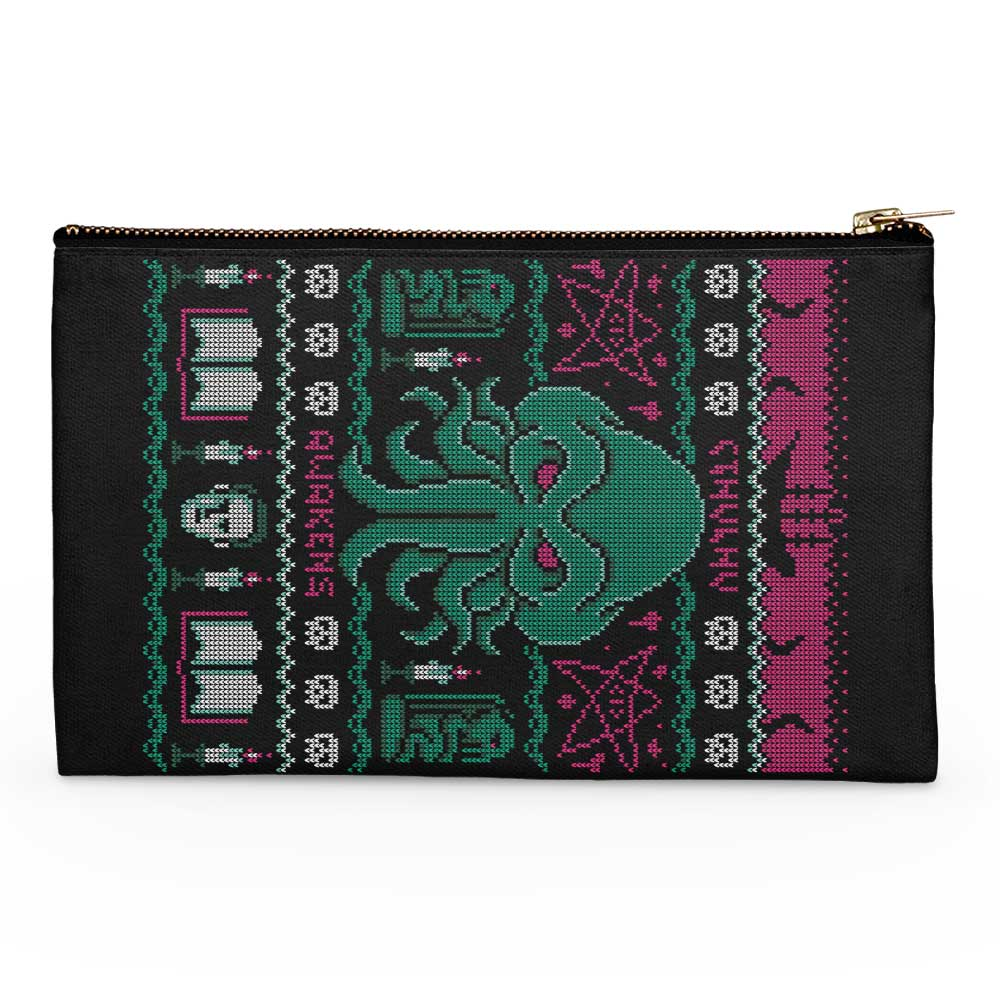 Cthulhu Awakens Sweater - Accessory Pouch