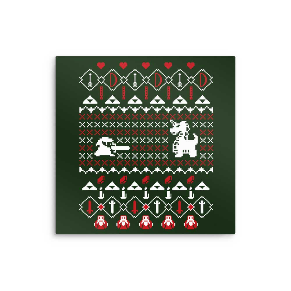 Dangerous to Go Alone at Christmas - Metal Print