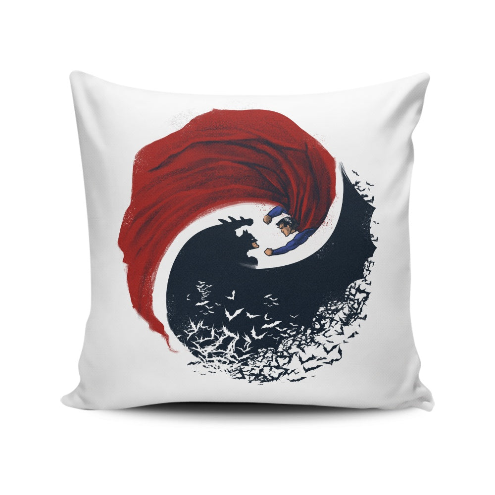 Day vs. Knight - Throw Pillow
