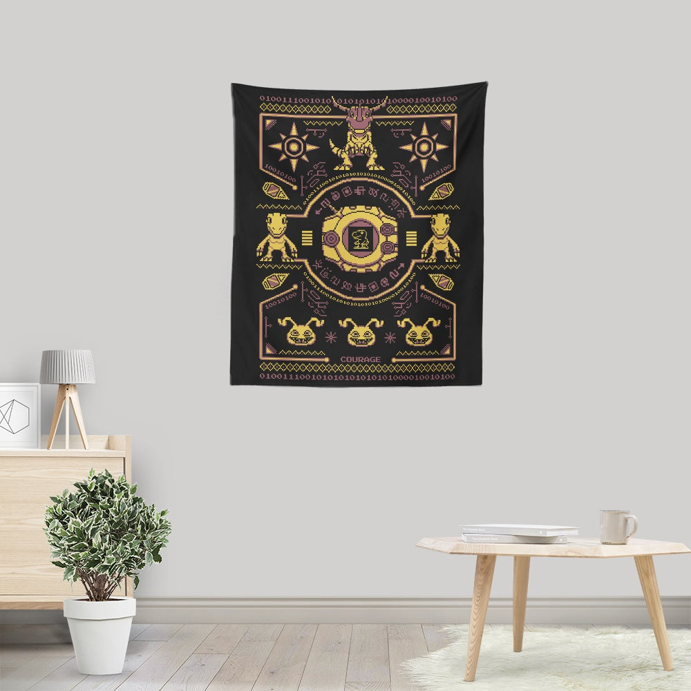 Digital Courage Sweater - Wall Tapestry