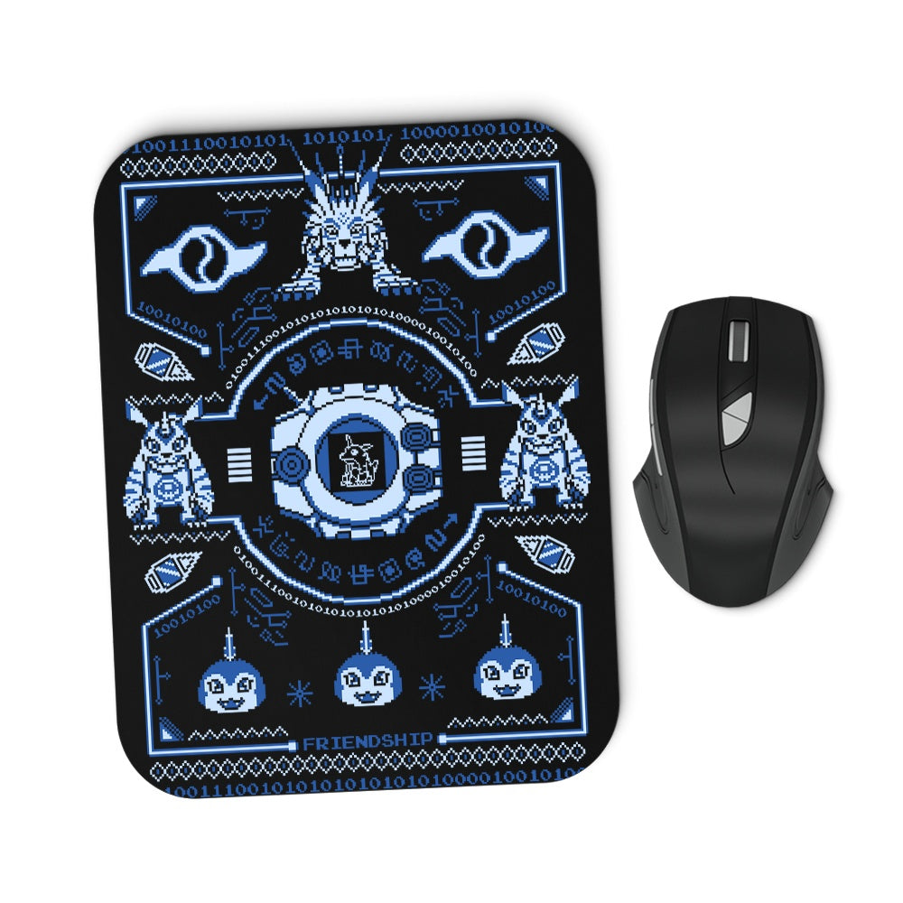Digital Friendship Sweater - Mousepad