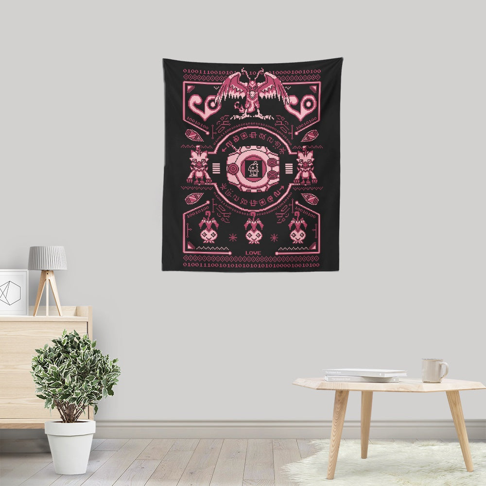 Digital Love Sweater - Wall Tapestry