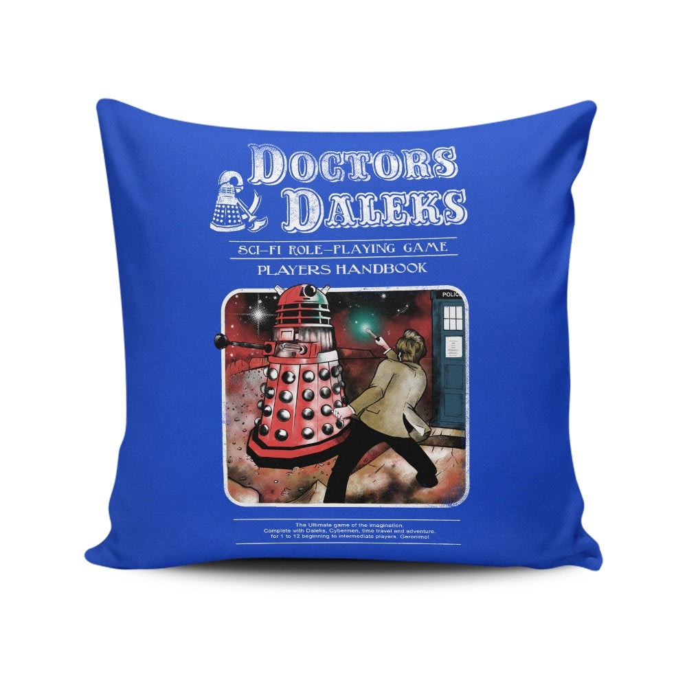 Doctors and Daleks - Throw Pillow