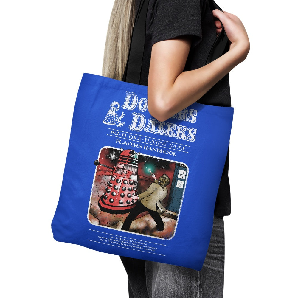 Doctors and Daleks - Tote Bag