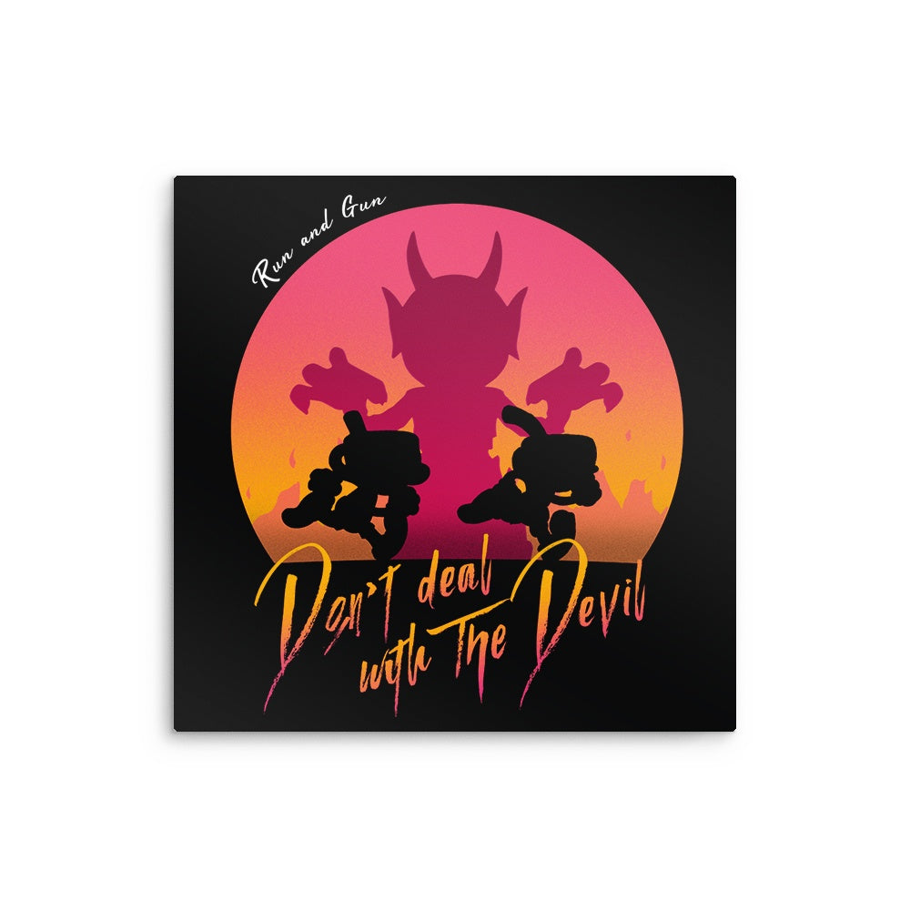 Don't Deal with the Devil - Metal Print