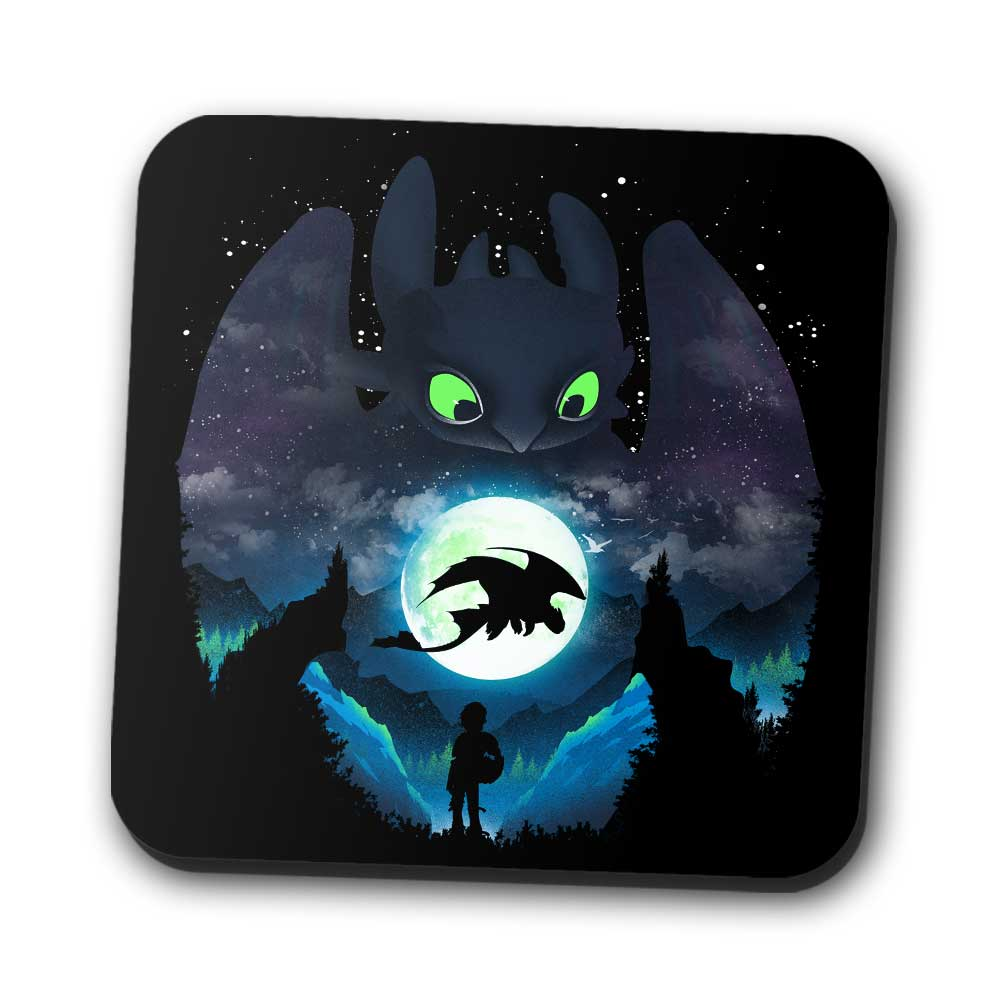 Dragon Sunset - Coasters