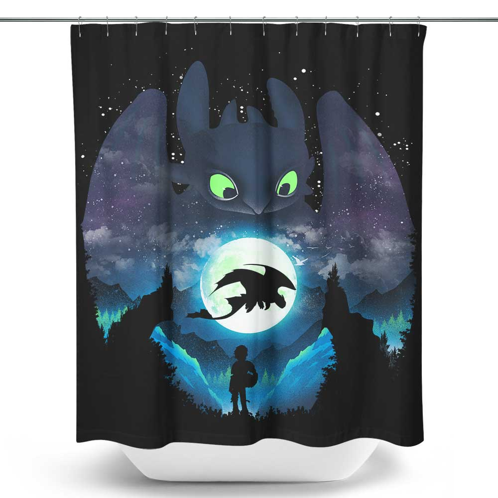 Dragon Sunset - Shower Curtain